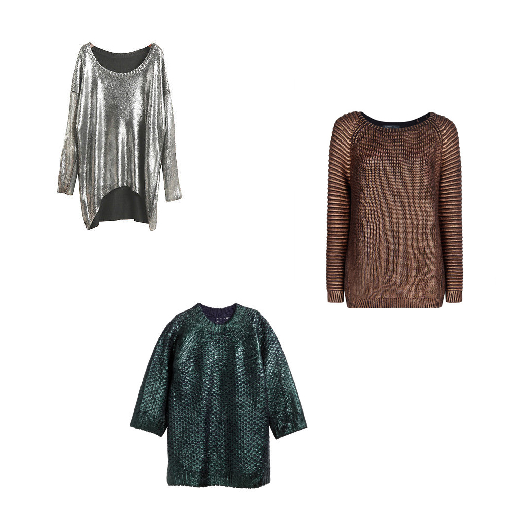 metallic sweater