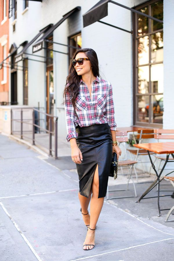 plaid and leather 2