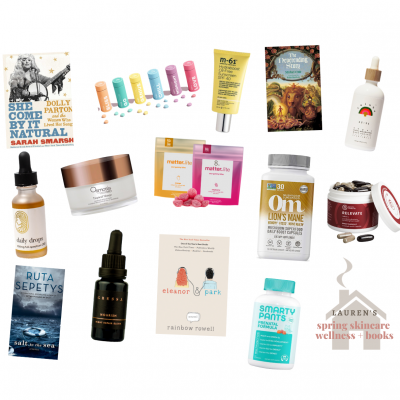 Spring Wellness, Skincare, & Books